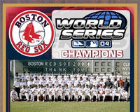 2004 Boston Red Sox Healy championship plaque