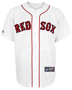 Red Sox home replica jersey
