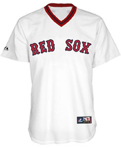 Red Sox home polyester pullover throwback jersey