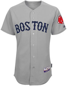 Red Sox road gray authentic jersey