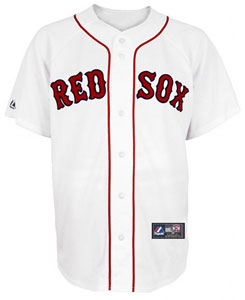 Red Sox youth home replica jersey