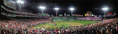 2007 American League Championship Series Celebration - Fenway Park panorama by Rob Arra
