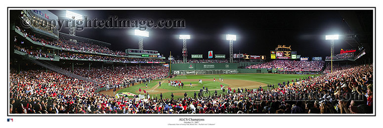 ALCS Celebration at Fenway Park - Rob Arra Panorama
