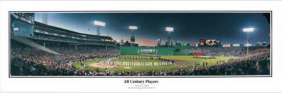 1999 All-Star Game Ceremony at Fenway Park panorama
