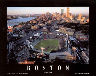 Fenway Park Boston aerial poster