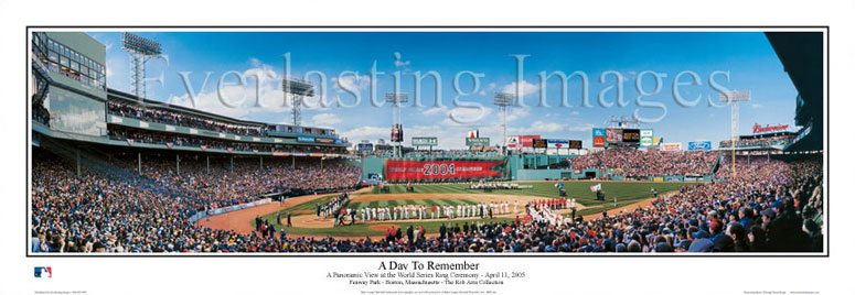 Fenway Park Panorama of 2004 World Series Ring Ceremony