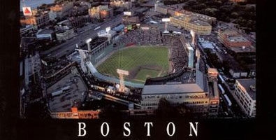 Fenway Park and Boston aerial poster