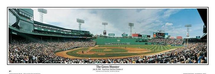 Fenway Park (The Green Monster) Panoramic by Rob Arra