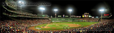 First Pitch of 2007 World Series panorama by Rob Arra