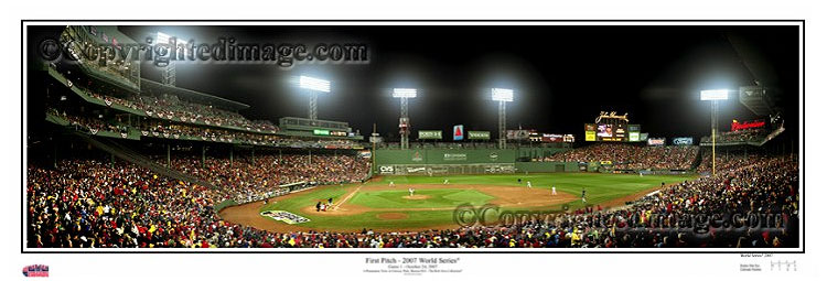 2007 World Series First Pitch at Fenway Park - Rob Arra Panorama