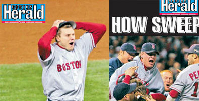 2007 Boston Herald victory posters