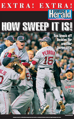 How Sweep It Is Boston Herald poster