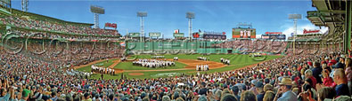 Fenway Park's 100th Anniversary Ceremony panorama by Rob Arra