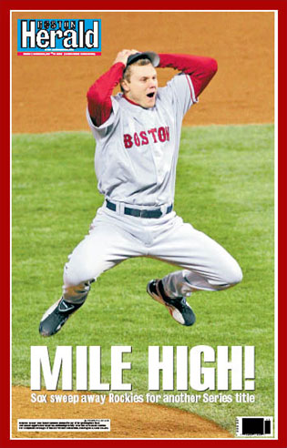 Mile High Boston Herald poster