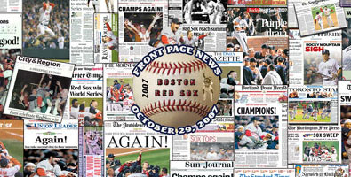 Red Sox 2007 newspaper collage poster