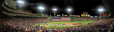 Fenway Park panorama - 2007 World Series Opening Ceremonies by Rob Arra