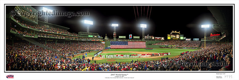 Opening Ceremonies of 2007 World Series at Fenway Park