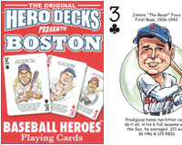 Boston Baseball Heroes Poker Cards