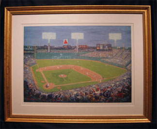 Fenway Park painting with frame