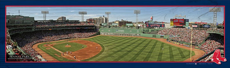 Fenway Park panorama wood sign