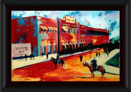 Classic Fenway Park giclee in frame