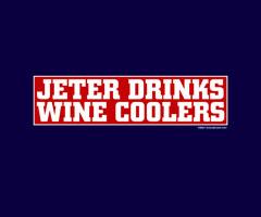 Jeter Drinks Wine Coolers shirt