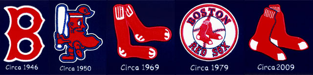 Red Sox logos on the heritage banner