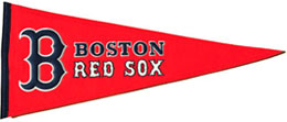 Traditional Red Sox pennant