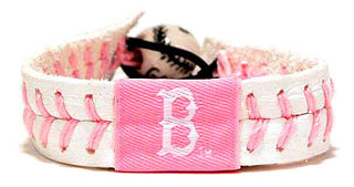 Pink Red Sox seam bracelet