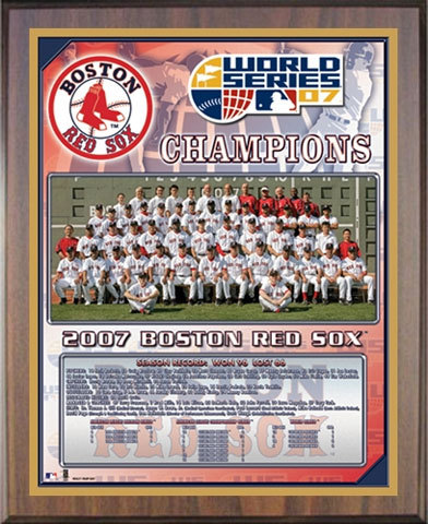 2007 Red Sox World Series Champions Healy Plaque