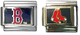 Red Sox Italian charms