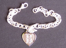 Red Sox heart tag bracelet