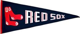 Throwback Red Sox pennant
