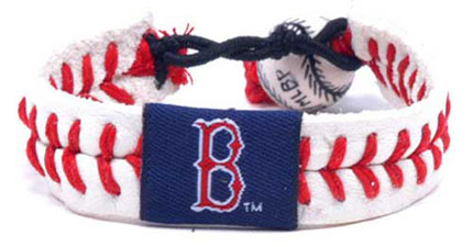 Red Sox leather seam bracelet