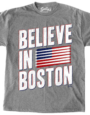 Believe in Boston with baseball bat flag shirt
