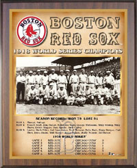 Red Sox 1918 World Champions Healy plaque