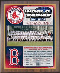 Red Sox 2004 World Champions Healy plaque