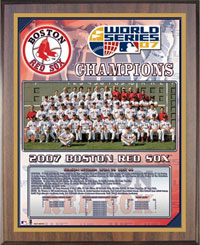 Red Sox 2007 World Champions Healy plaque
