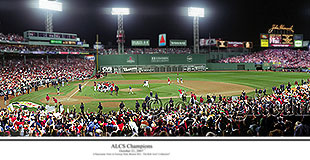 2007 ALCS Champions Celebration at Fenway Park