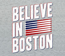 Believe In Boston baseball bat flag shirt