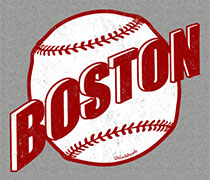 Boston baseball retro design shirt