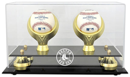 Red Sox two baseball acrylic display case