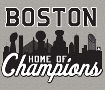 Home of Champions Boston trophy skyline shirt