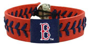 Red Sox team color baseball seam wristband