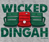 Red seat wicked dingah shirt