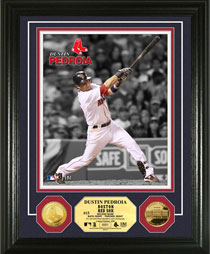 Dustin Pedroia gold coin photomint
