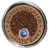 Fenway Park coin with infield dirt