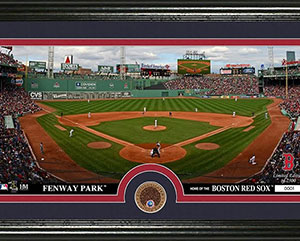 Fenway Park photomint with infield dirt