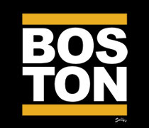 Boston with gold bars shirt