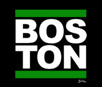 Boston with green bars shirt